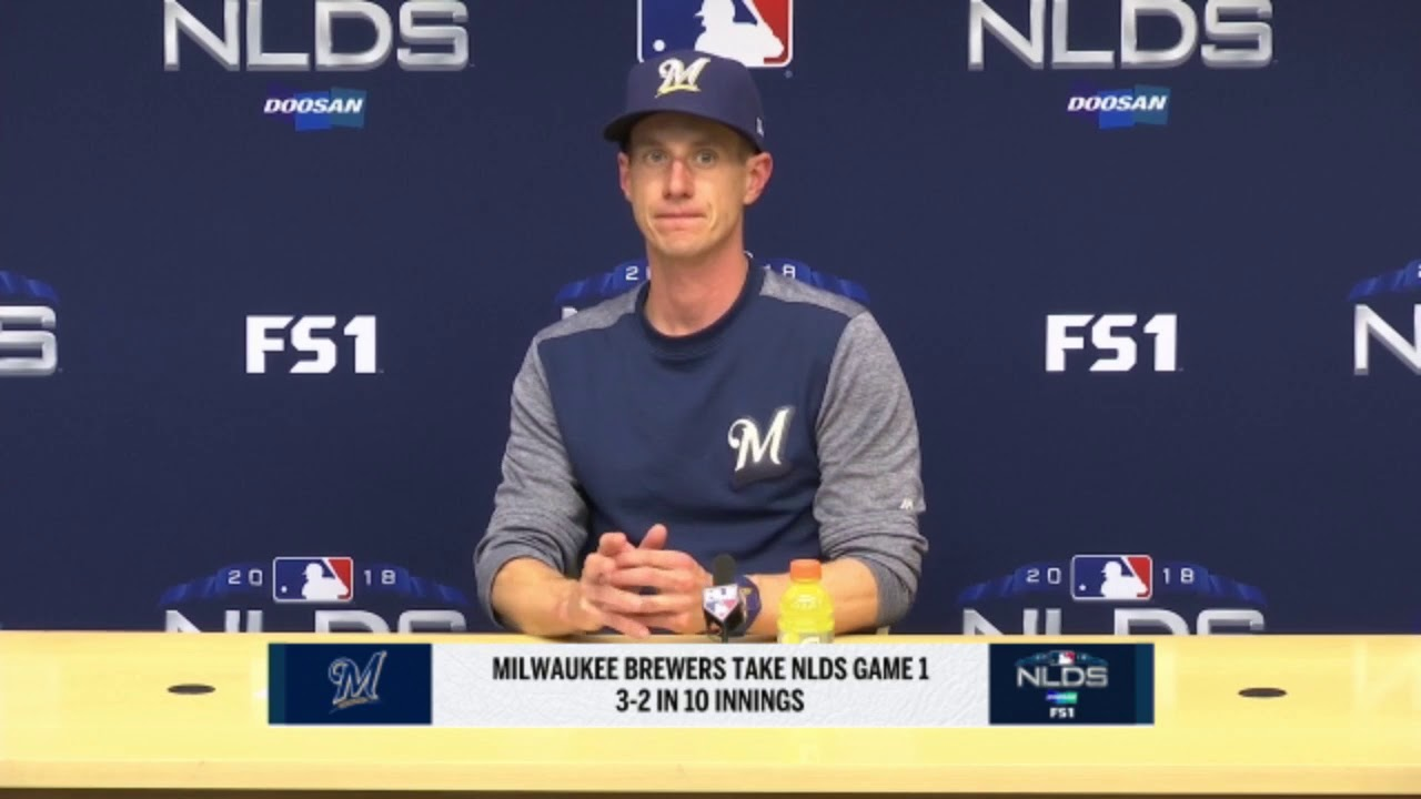 Brewers  Counsell breaks down Game 1 of NLDS - YouTube 169b3e79379