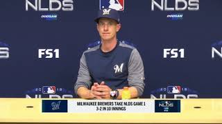 Brewers' Counsell breaks down Game 1 of NLDS