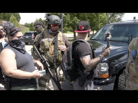 Militia Group Gathers In Louisville, KY, Community Responds