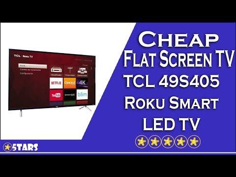Cheap Flat Screen TV #3 - TCL 49S405 Roku Smart LED TV (2017 Model) Review