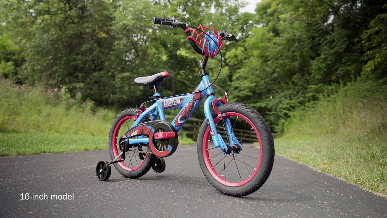 Kid S Spider Man Bike With Web Plaque Youtube