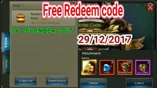 29/12/2017 Free redeem Code Legacy of Discord