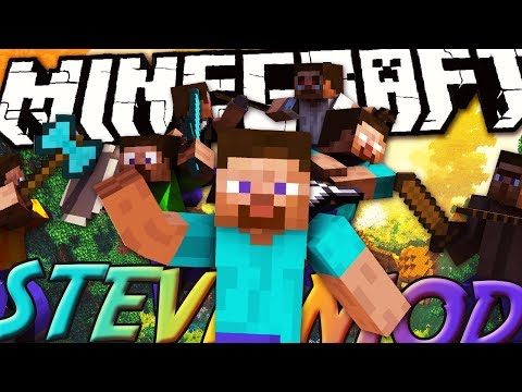 DOPO GREEN STEVE ECCO ENDERSTEVE E... - Minecraft ITA - Steve Mod Review