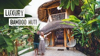 We Stayed In A Luxury Bamboo Villa In Bali! Full Tour + Crazy Indonesian Fire Dance 🔥
