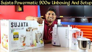 Sujata Powermatic Plus 900 Watts Juicer Mixer Grinder | Best Mixer Grinder & Juicer