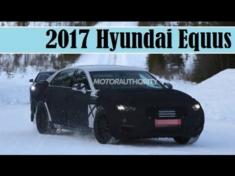 2017-hyundai-equus,-the-first-spy-shots,-test-on-the-snowing-road