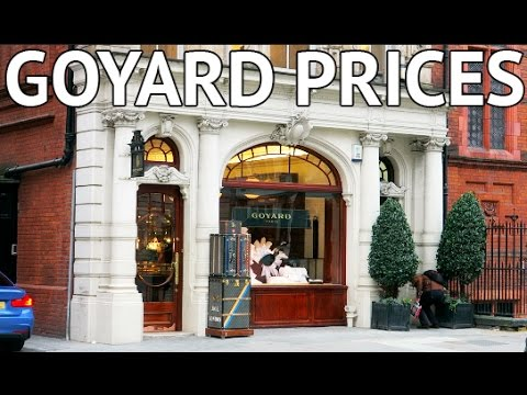 Goyard Prices Revealed In London Youtube