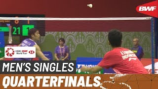 QF | MS | Anthony Sinisuka GINTING (INA) [8] vs. CHOU Tien Chen (TPE) [2] | BWF 2019