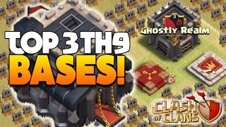 "Clash Of Clans - TOP 3 TH9 ""ANTI 3 STAR"" WAR BASE 2016! - CoC BEST TOWN HALL 9 TROPHY DEFENSE 2016!"