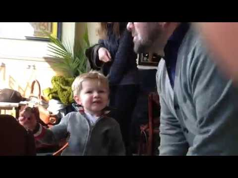 Lunch at Meritage where Wine Director Nicolas Giraud greets his son, Joseph.