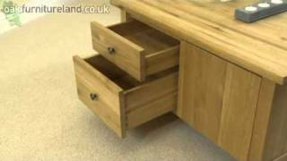 Chaucer Solid Oak Square Coffee Table From Oak Furniture Land