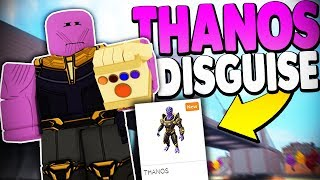 THANOS DISGUISE TROLLING *NEW RTHRO PACKAGE* | Super Power Training Simulator (ROBLOX)