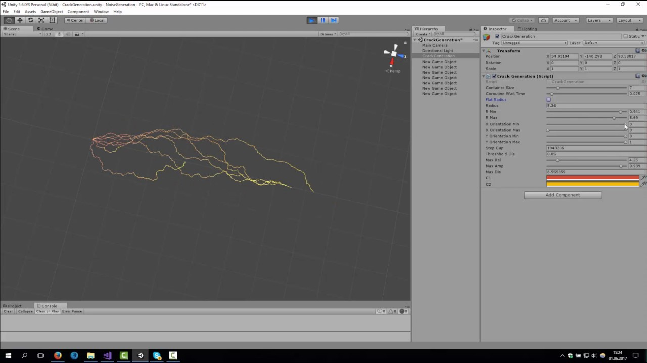 Unity - Lightning Generation using LineRenderer (~230 Lines of Code)