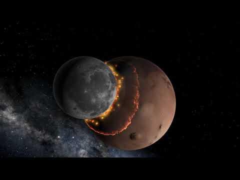 Mars and Moon collision - Universe Sandbox 2  