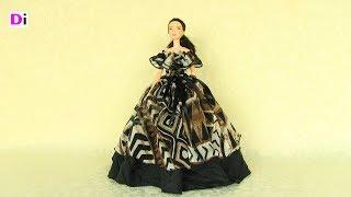 как сделать вечернее платье для куклы монстер хай