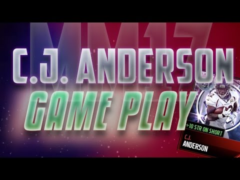 Madden Mobile 17 Headline Hero C.J. Anderson Gameplay!