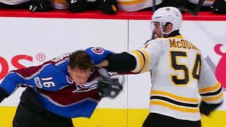 McQuaid uses Zadorov's face as a punching bag