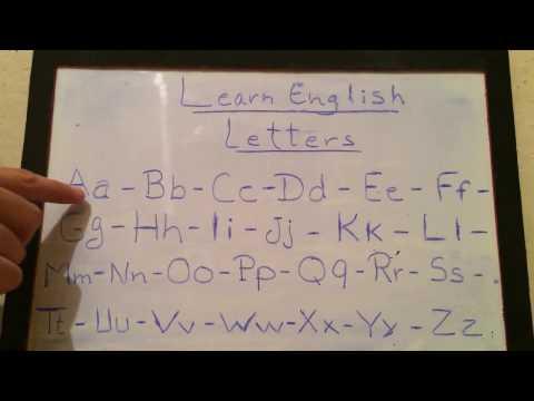 (1)- تعلم اللغة الإنجليزية من الصفر للمبتدئين - الحروف