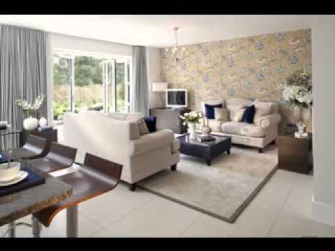 Feature wallpaper design ideas living room youtube for V a dundee living room