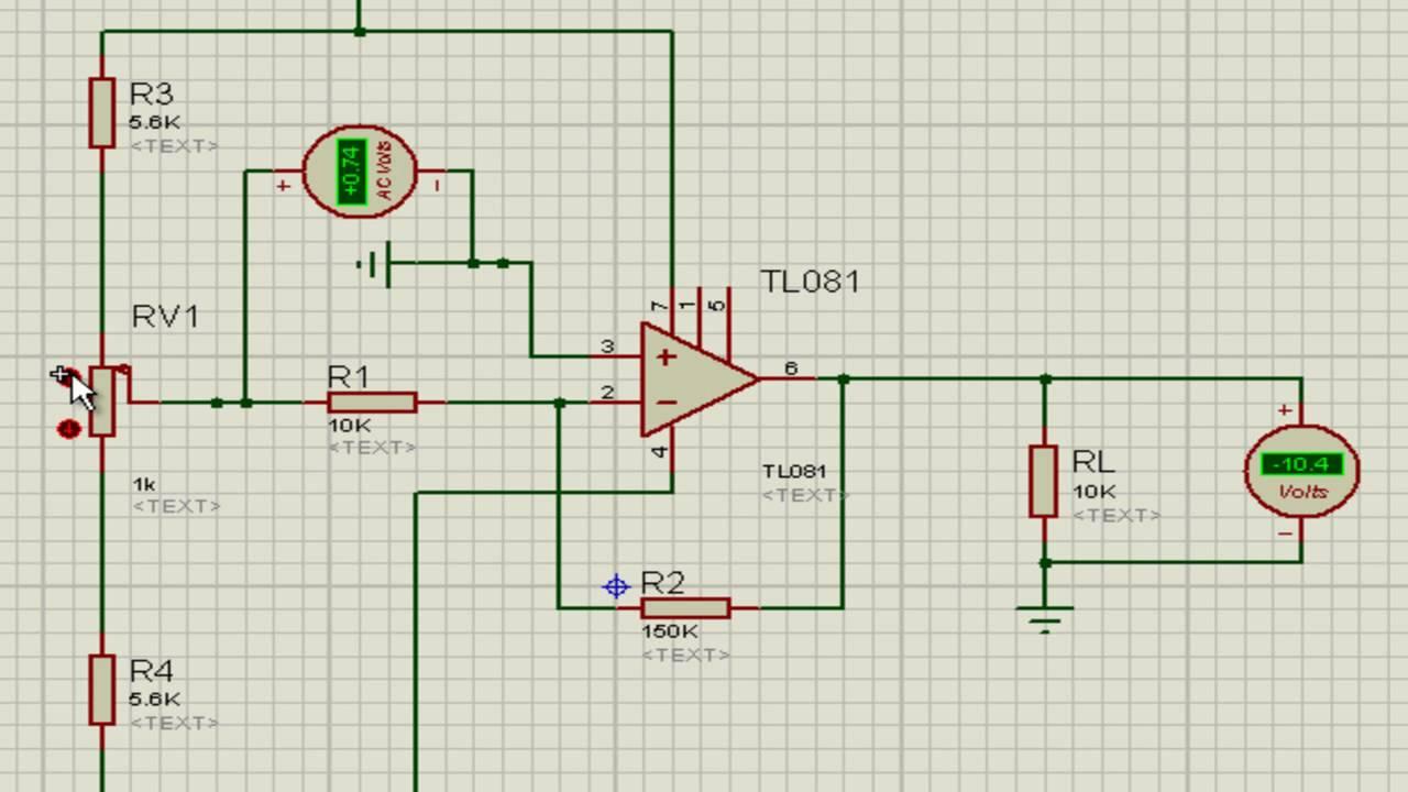 TL081 / Proteus