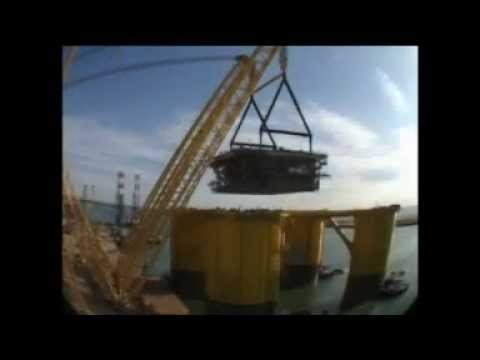 The construction of the Mars B Olympus Drilling Platform