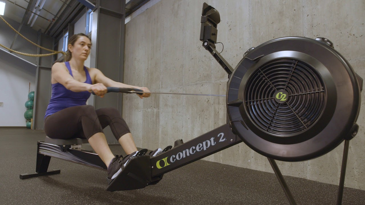 Working Out On the Concept2 Indoor Rower