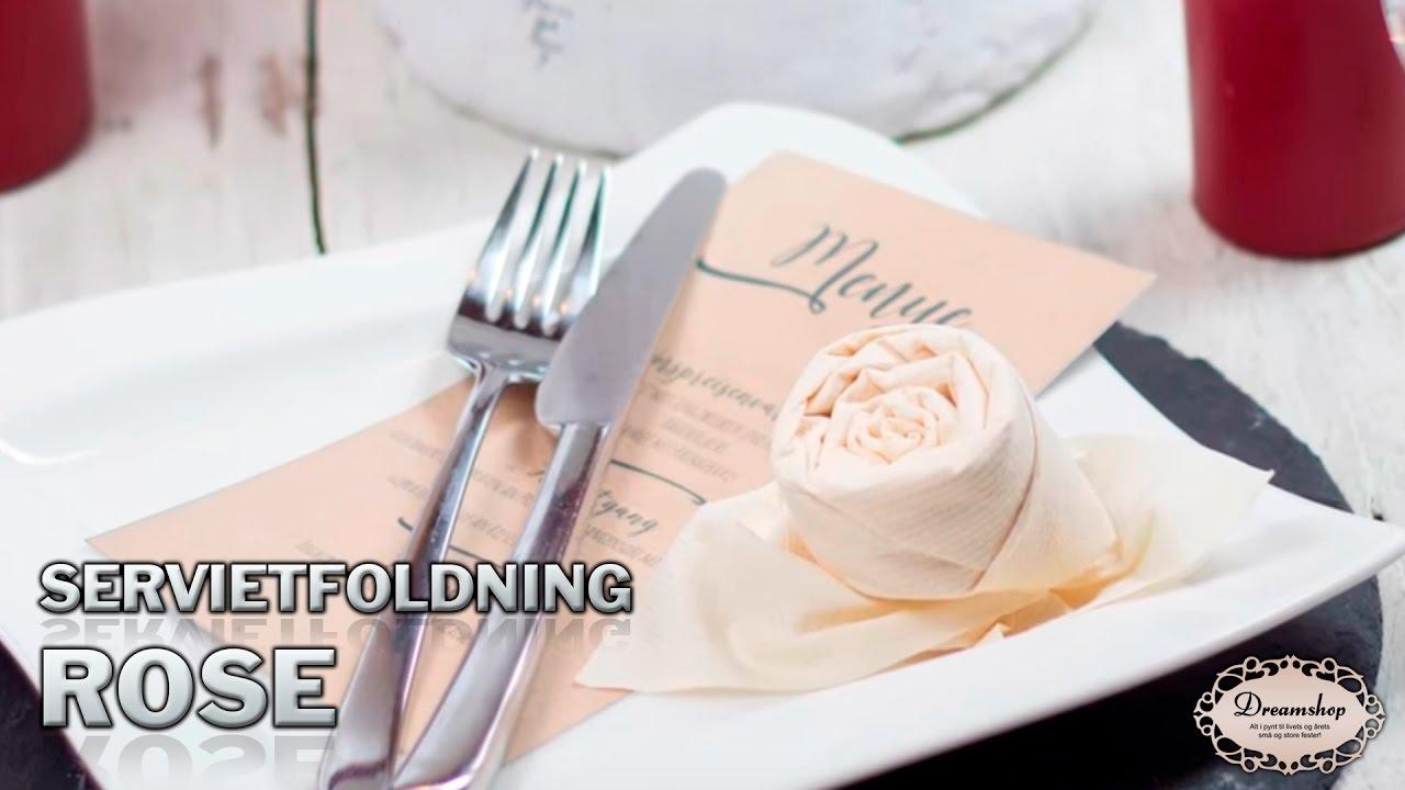 serviet rose foldning