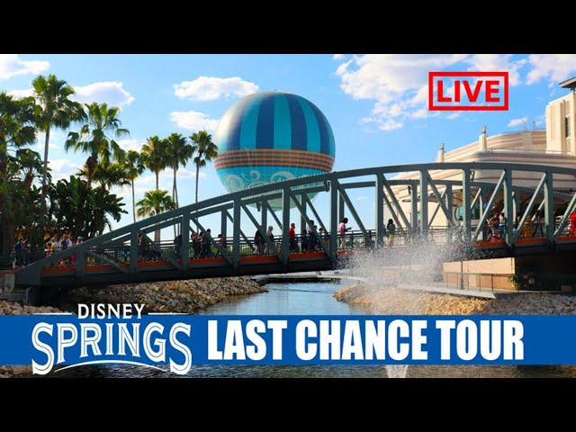LIVE: Walt Disney World Resorts and Disney Springs Closing - Last Chance Tour - Disney Live Stream
