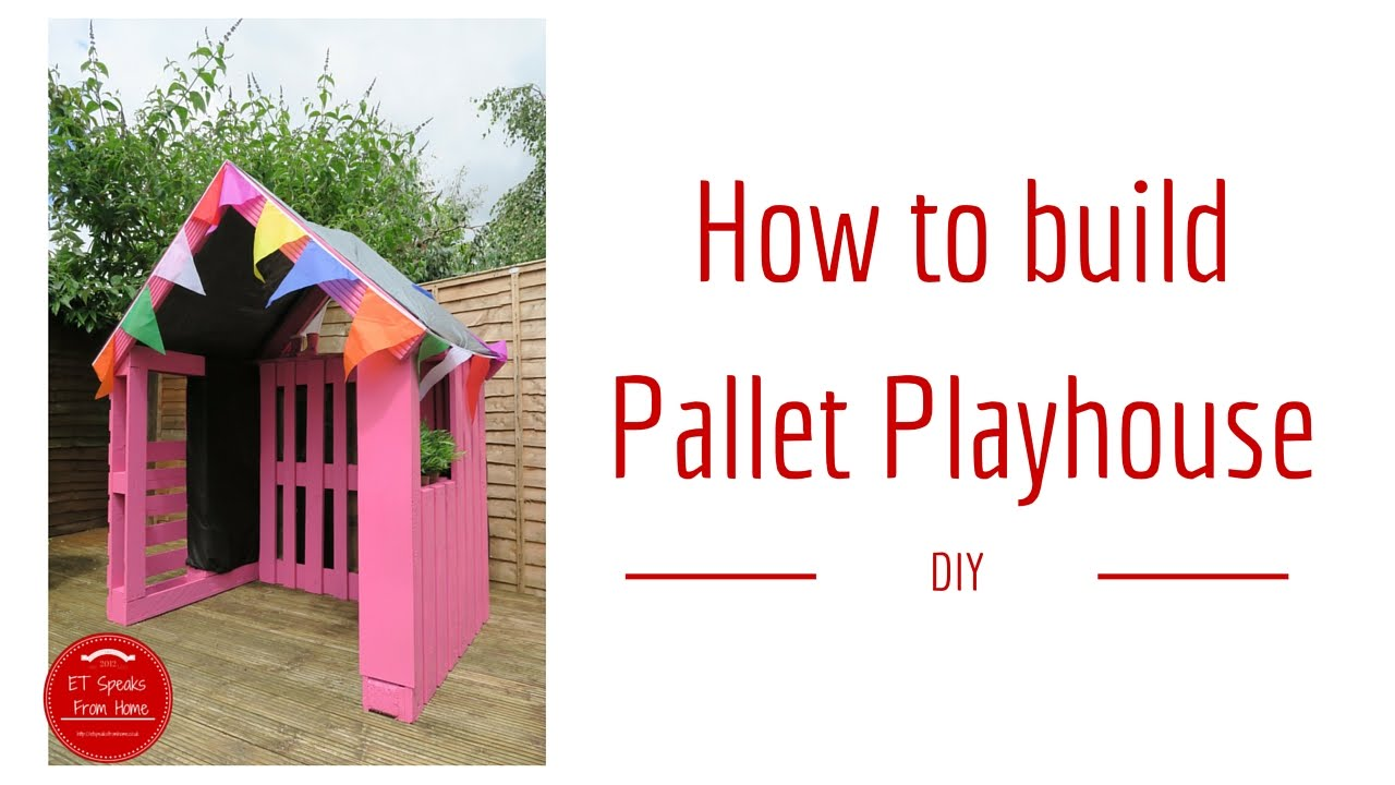 How to build a pallet playhouse youtube for How to build a playhouse out of pallets