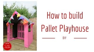 Want to learn how to build a Pallet Playhouse step by step? To build this house, I used just three pallets for the frame and the rest