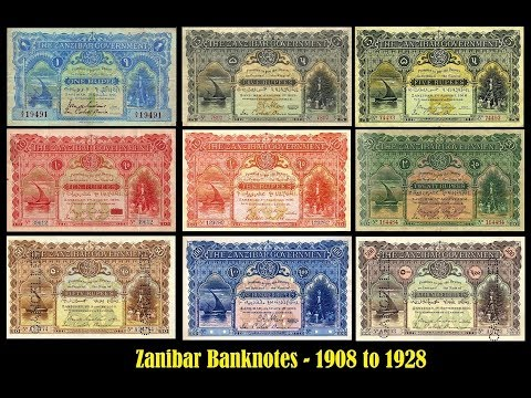 Zanzibar Banknotes  -1908 to 1928 Complete Issues