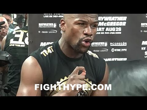 MAYWEATHER REACTS TO 8 OZ. GLOVE APPROVAL FOR MCGREGOR FIGHT; NOTES HE KO'D HATTON IN 10 OZ.