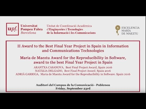 II Award to the Best Final Year Project in Spain in Information and Communications Technologies