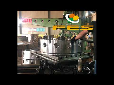 The production process of FES casing---drill the hole on the casing joint.