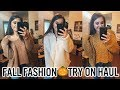 COZY FALL FASHION TRY ON HAUL | WALMART, SHEIN, TARGET & MORE!