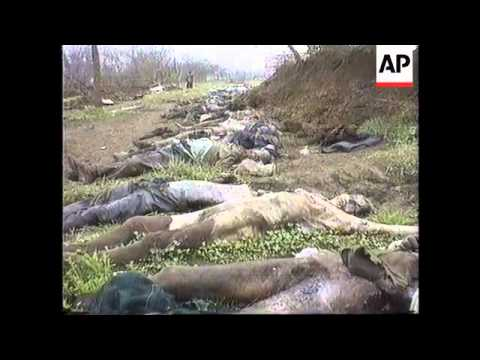 Chechnya - Mass Grave In Grozny