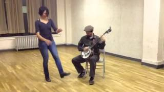Charmaine Slaven and Charlie Beck at a City Stompers class