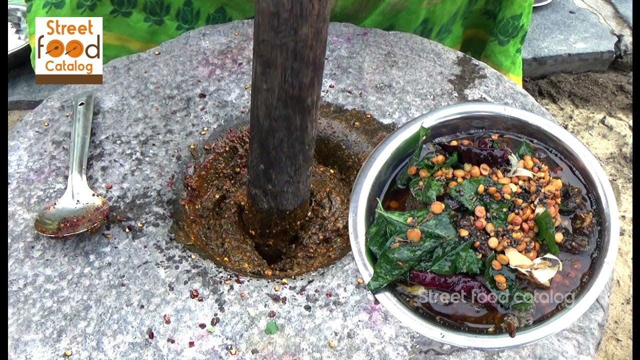 Village Style Gongura Pachadi Andhra Gongura Chutney Andhra Food Recipes Street Food Catalog