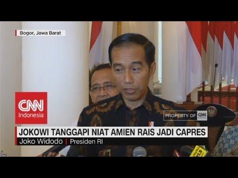 Jokowi Apresiasi Niat Amien Rais Mau Nyapres - YouTube