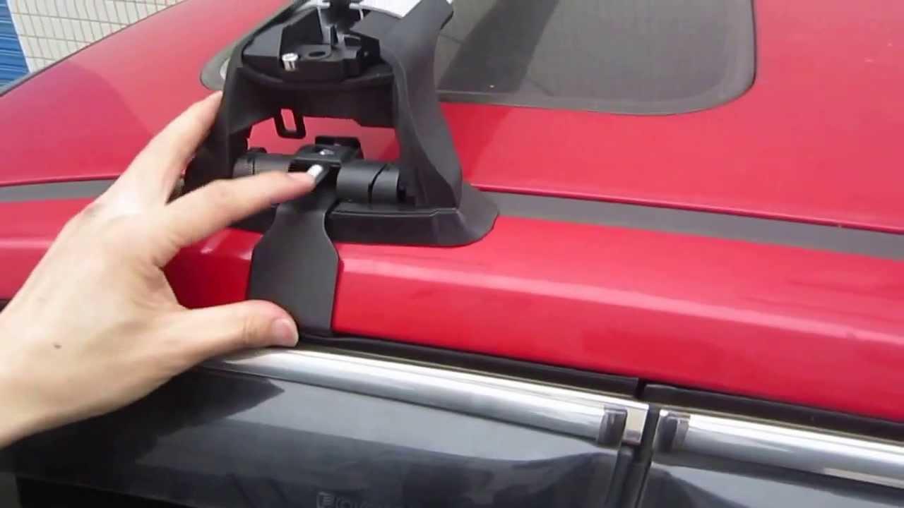 roof rack crossbars installation for ford focus hatchback front