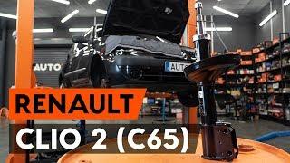 Montering Støtdemper foran RENAULT CLIO II (BB0/1/2_, CB0/1/2_): gratis video