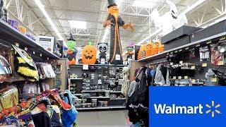 WALMART HALLOWEEN 2018 SECTION - HALLOWEEN COSTUMES MASKS DECORATIONS HOME DECOR SHOPPING