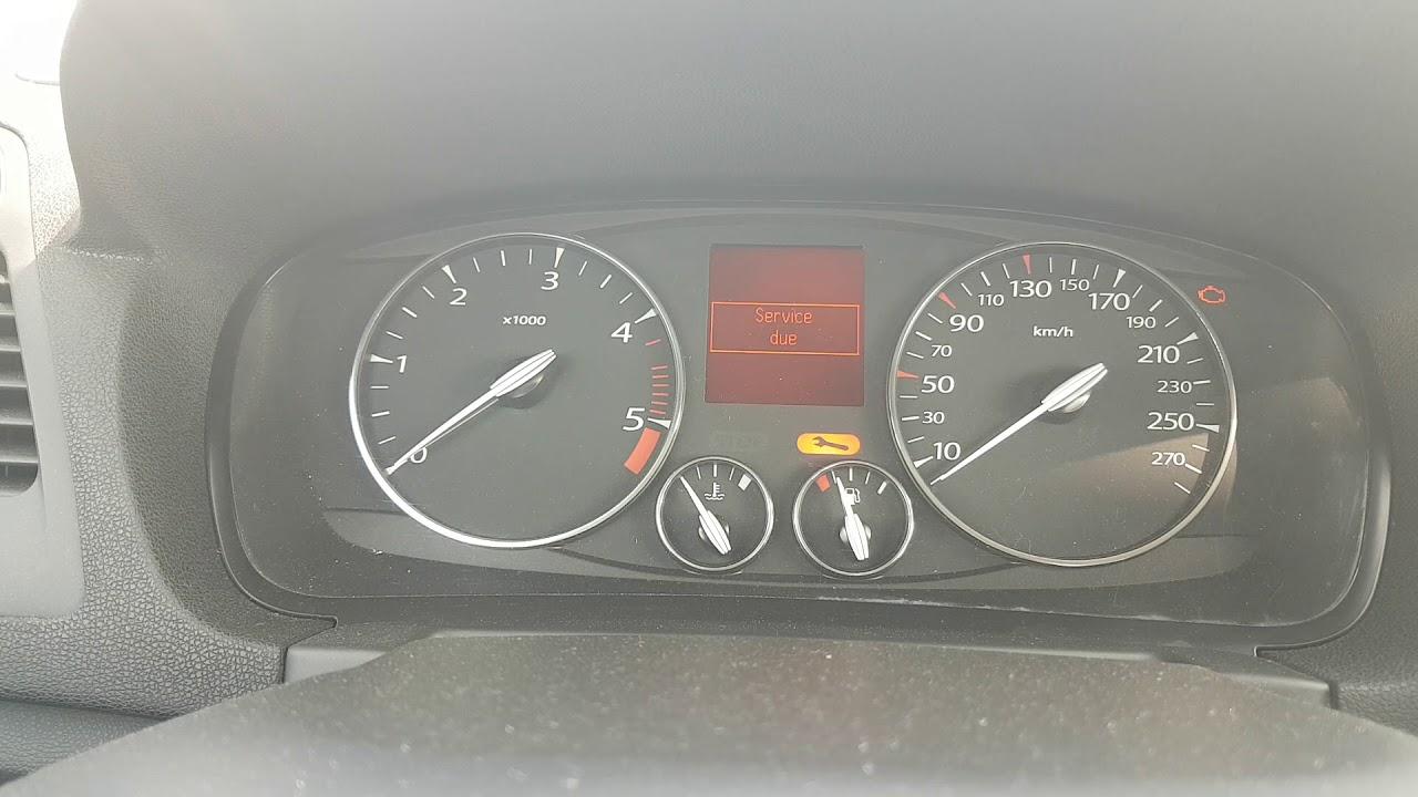 Renault Laguna 3 service reset