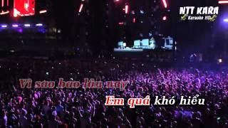 [Karaoke] Giả Vờ Nhưng Em Yêu Anh Remix - Miu Lê (full beat)