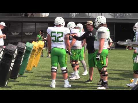 Oregon Offensive Line Drills
