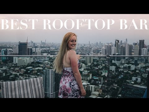BEST ROOFTOP BAR BANGKOK | Breathtaking 360 city view and storm disaster!