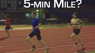 attempting a 5 minute mile