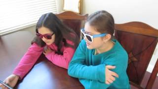 Caitlin and Sarah React to: Mutant Spider Dog Prank