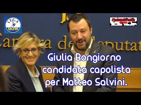🔴 Matteo Salvini presenta la candidatura dell'avv. Giulia Bongiorno - 18/01/2018