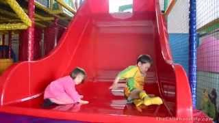 Indoor Playground Fun -lots Of Slides